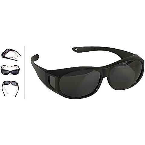 Gafas de Sol Polarizadas Para usar Sobre Gafas - Cubren las Gafas Normales y de Lectura para Reducir el Deslumbramiento - Ligeras - Cómodas -Talla Adultos Hombres y Mujeres - Excelentes para Montar Bicicleta y