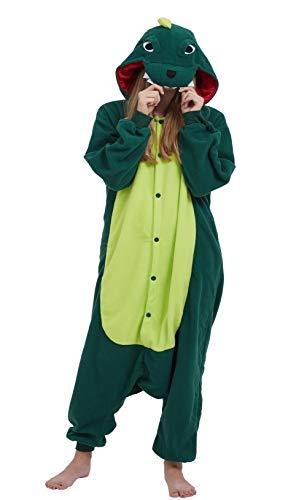 DELEY Unisex Erwachsene Tieroutfit Pyjamas Schlafanzug Cosplay Verkleiden Kostüme OneSize Jumpsuit Tierkostüme Dinosaurier Größe L