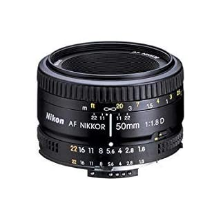 Canon Nikon AF Nikkor 50mm f/1.8D Prime Lens (Black) - International Version (No Warranty) Ohrstöpsel, 39 cm, Black