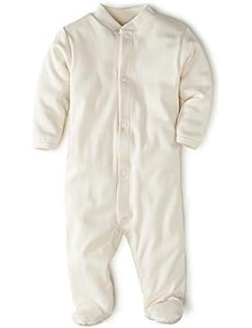 hessnatur Baby Baby Schlafanzug Schlafstrampler Einteiler mit Fuß - 100% Bio Baumwolle Organic Cotton - unifarben...