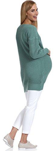Be Mammy Damen Umstandspullover Roxy Dunkelminze