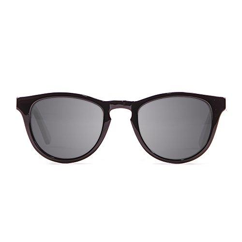 KAU Eyecreators Florencia Sonnenbrille Unisex Erwachsene, Shiny Black