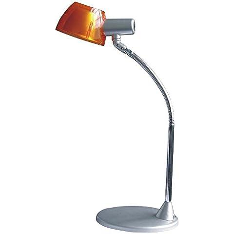 GLOBO BRASILIA naranja transparente lámpara de mesa de 1x40W
