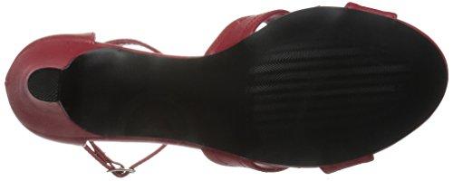 Pleaser DIVINE-435 Damen Sandalette Lederimitat Rot