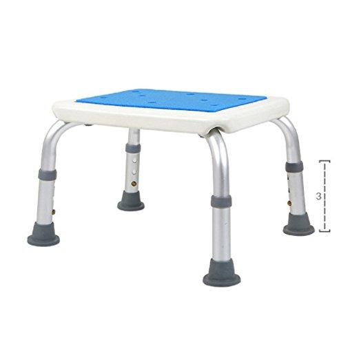 GPF Duschhocker/Duschsitz mit Abnehmbaren Rücken und Verstellbaren Beinen, Badehocker Zum Baden, Ältere Menschen, Behinderte/Duschstuhl (Aluminiumlegierung),2 (Deluxe-aluminium-bad-bank)