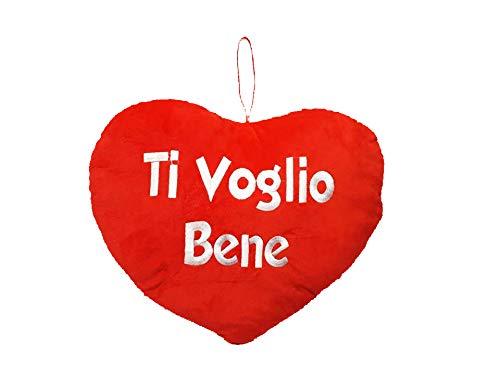 Macedonia peluche cuscino cuore ti voglio bene idea regalo per san valentino