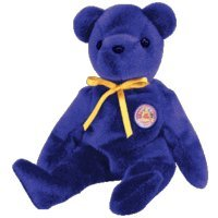 TY BEANIE BABY   SAPPHIRE THE BEAR (BBOM MAY 2004)
