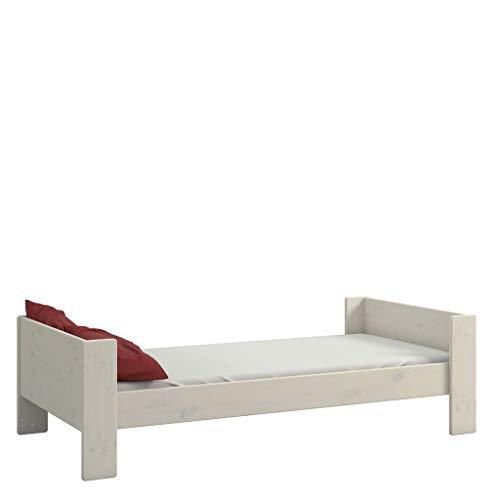 Steens For Kids Kinderbett, Einzelbett, Liegefläche 90 x 200 cm, Kiefer massiv, weiß