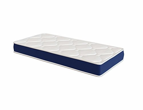El Almacen del Colchon - Colchón espumación, Colchón Cuna, Modelo Ten, 60 x 120x 10cm - Todas Las Medidas, Blanco y Azul