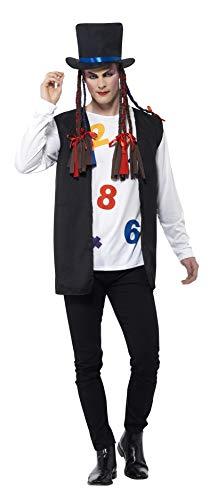 Kostüm Jahre Party Pop 80er - Smiffys 44630L - Herren 80er Jahre Pop Star Kostüm, Größe: L, mehrfarbig