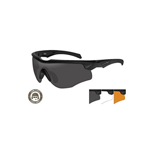 ee17d3adff WILEY X ROGUE COMM Smoke Grey Clear Light Rush Matte Black Frame