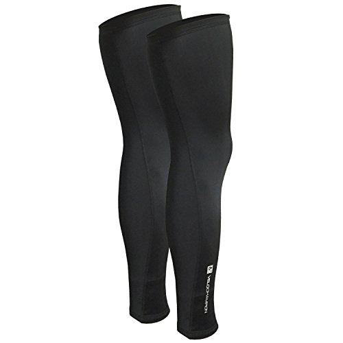 VeloChampion Thermo Tech Lite Rad-Beinstulpen, (Schwarz, Medium)