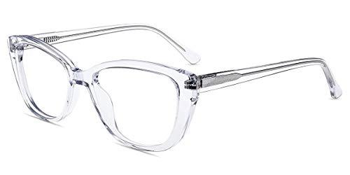 Firmoo Anti Blaulicht Computer Brille ohne Sehstärke Damen, Katzenauge Blaulichtfilter Brille Anti UV; Blaulichtblockierend, Kratzfest; Retro Cateye Brille