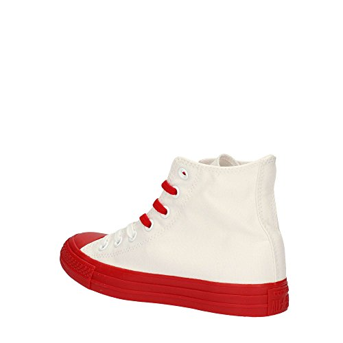 Converse - 156765c Ct As Canvas Couleur Caoutchouc, Sneakers Unisexe, Blanc / Casino Bianco Rosso