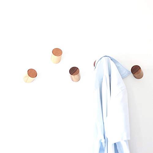 anaan One-Third Appendiabiti da Parete Legno Attaccapanni Muro Ganci  appendi Cappotti Moderno Design Ingresso Decorazione Scandinave (Set di 2  faggio)