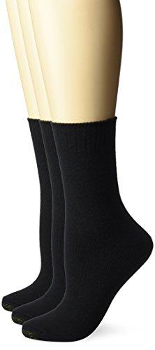 Gold Toe Damen-Socken, Übergröße, 3 Paar - Schwarz - Einheitsgröße -