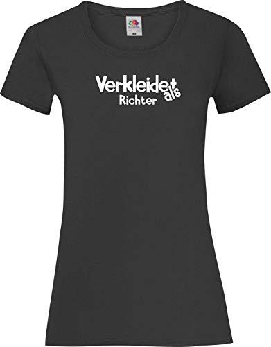 Lady-Shirt Verkleidet als Richter Karneval Fasching Kostüm Verkleidung, schwarz, - Kostüm Richter Shirt