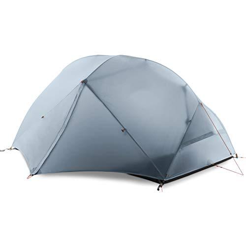 ZHJLOP Zelt DHL-freies Verschiffen 3F UL Gear 2 Personen-Campingzelt 210T/ 15D Silikongewebe-Doppelschicht-Zelt-Leichtgewichtler