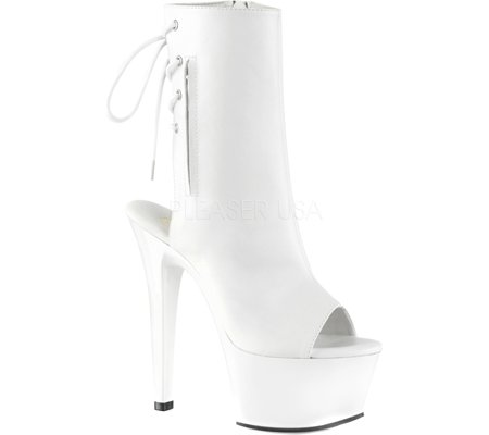 Pleaser ASPIRE-1018 Wht Faux Leather/Wht