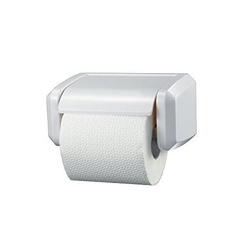 Washroom Hub Heavy Duty Toilet Roll Holder - Standard Design For Bathroom - White by Washroom Hub