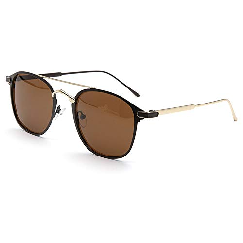 Frog Mirror Driving Anti-Glare-Sonnenbrille New Simple Double Beam Polarized Sonnenbrille Brille (Farbe : Brown)