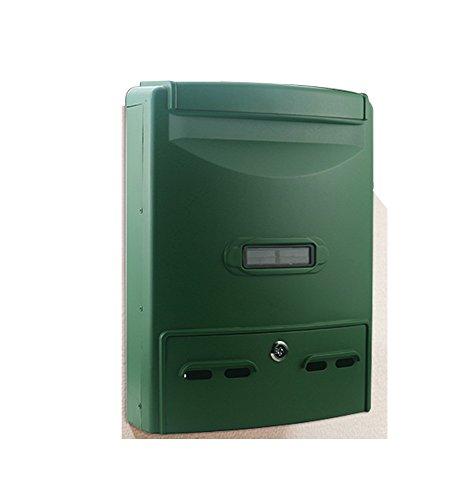 Shao jun cassetta postale - alluminio fuso, grande ferro battuto con serratura retro parete esterna per casa può essere collocato nella cassetta postale numero della cassetta postale, adatto per ville