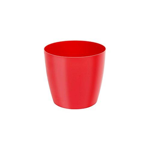 Classique luisant cache-pot LOBELIA, 14 cm, en rouge