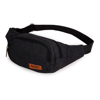 ZYT Männer-kleine flache Leinwand-outdoor-Sport laufen Taschen Brust Pack Black