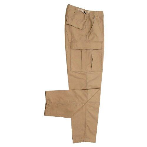 MFH US Pantalon spécial sports de Combat BDU Men's avec 2 genouillères ARRIERE khaki / sand (khaki / sand)