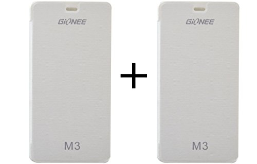 KoldFire Combo of 2 Gionee M3 compatible Premium Quality Flip cover (White and White)  available at amazon for Rs.199