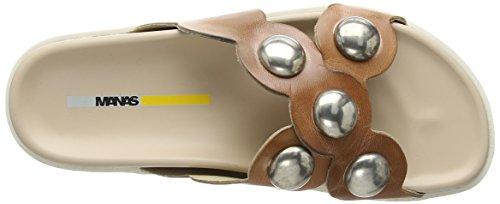 Manas Studded Rush Sandal, Chaussures à Talon Femme Nude