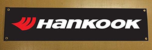 'HANKOOK' Reifen Banner für Garage Wand oder außerhalb, Event Gebrauch 5ft x 1ft ca. - 5' Wand