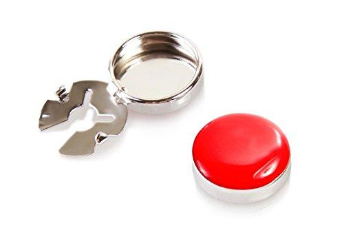 Rote Knopfclips - Die Alternative für Manschettenknöpfe für gewöhnliche Hemden (Standard - 18mm)