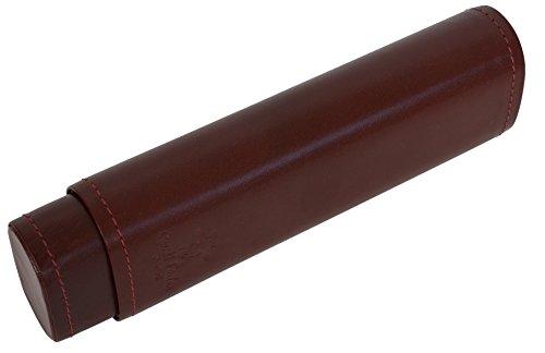 Gusti Leder studio ''Norman'' portapenne tabacco Astuccio Portamatite Ufficio Università Vintage marrone 2S10-22-1