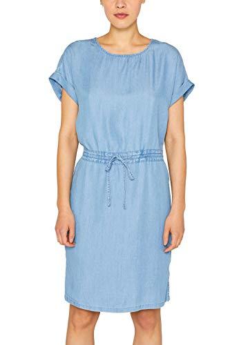ESPRIT Damen 049EE1E031 Kleid, Blau (Blue Light Wash 903), X-Large (Herstellergröße: XL)