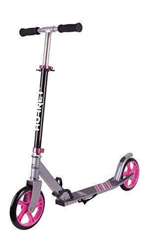 HUDORA Unisex- Erwachsene City Scooter Hornet Kinderfahrräder, schwarz/pink, 200mm