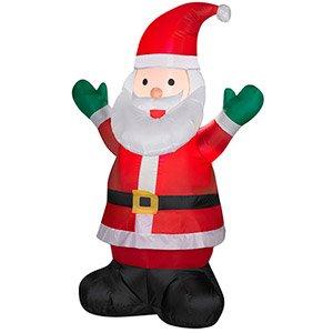 Aufblasbare 4'Santa Claus Weihnachts-Dekoration