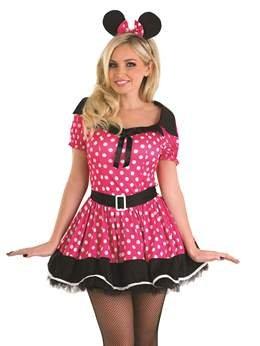 Missy Maus - Pink - Adult Kostüm - Groß - (Kostüme Missy Maus)