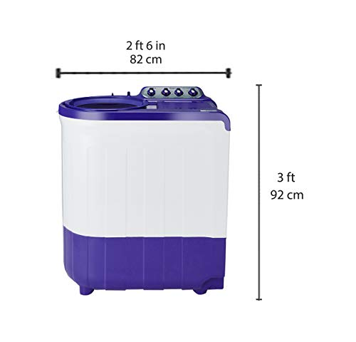 Whirlpool 8 kg Semi-Automatic Top Loading Washing Machine (ACE SUPER SOAK 8.0, Coral Purple, Supersoak Technology)