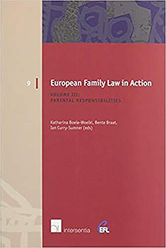 European Family Law in Action : Volume III : Parental Responsibilities
