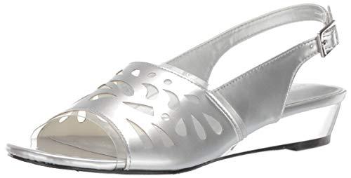 Easy Street Frauen Flache Sandalen Silber Groesse 12 US /43 EU - Pointy Toe Knee High Boots