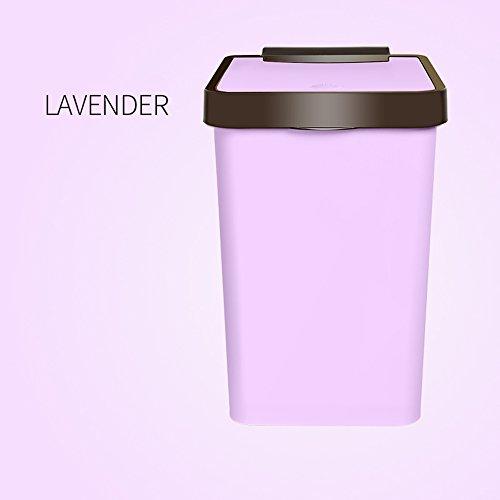 Mülleimer Brisk- Home Badezimmer Wohnzimmer groß mit Deckel Büroabdeckung Abfall-Recycling-Eimer (Farbe : 2)