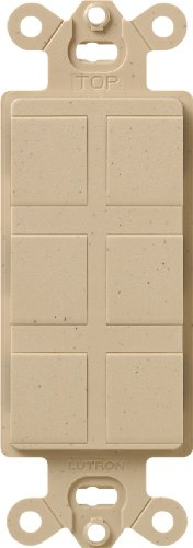 Lutron SC-6PF-DS Satin Colors 6-Port Frame, Desert Stone
