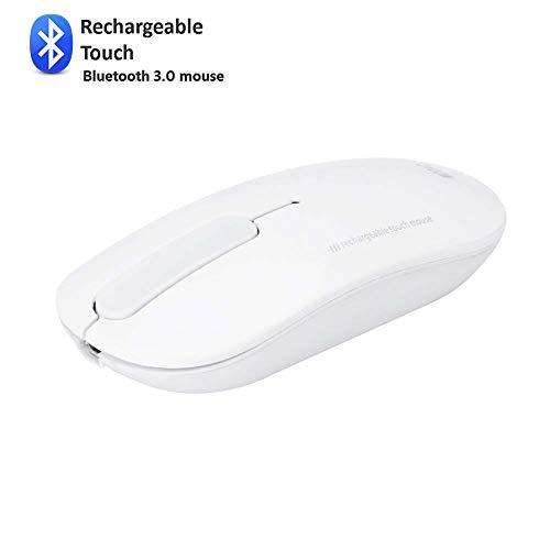 FWec 2,4 g schlanke kabellose Maus mit USB-Empfänger, weniger Lärm, tragbare Mobile optische Mäuse für Notebook, PC, Laptop, Computer, MacBook (White) - White Mobile Maus