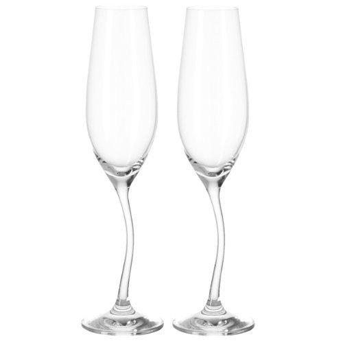 Leonardo - Sektglas, Champagnerglas - Modella - 2er Set - mit gedrehtem Stiel