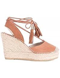 VIDORRETA Alpargatas Cuña Lace Up - Color - Cuero, Talla Zapatos Mujer - 39