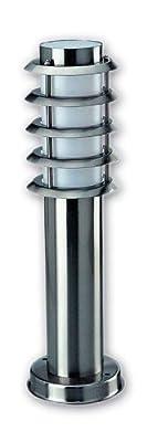Vollmer Aussenstandleuchte klein 450mm Edelstahl max 40 Watt E27 mit Blendraster von Vollmer auf Lampenhans.de