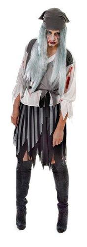 Blutige Zombie Pirate Lady - Adult Halloween ()