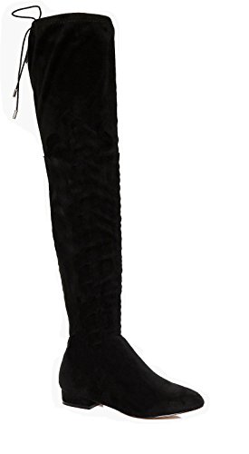 WOMENS LADIES THIGH HIGH BOOTS OVER THE KNEE PARTY STRETCH BLOCK HEEL...