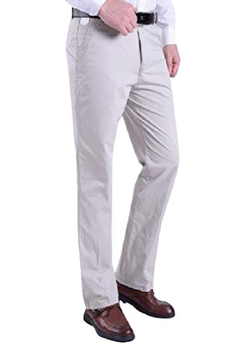 CuteRose Mens Trim-Fit Expandable-Waist Straight Flat-Front Work Pants AS8 28 Free Flat Front Pant
